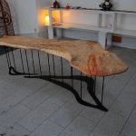 Sculptural dining table by Morgan Robinson