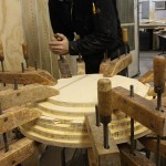 Glueing wood pieces together